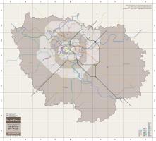 Plan actuel du RER et Transilien